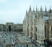 Mediolańskiej katedry Duomo nazwani di Milano Obrazy Royalty Free