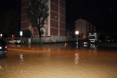 Mediolan fiume Seveso powódź Fotografia Stock
