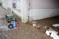 Mediolan fiume Seveso powódź Obrazy Stock