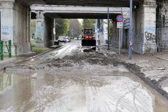 Mediolan fiume Seveso powódź Zdjęcie Stock