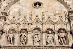 MEDIOLAN, ITALY/EUROPE - FBRUARY 21: Szczegół Duomo w Mediolan Obrazy Royalty Free