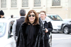 Mediolan, Milano, kobiety fasonuje tydzień jesieni zimę 2015 2016 Obrazy Royalty Free