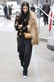 Mediolan, Milano, kobiety fasonuje tydzień jesieni zimę 2015 2016 Fotografia Royalty Free