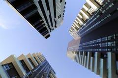 Mediolan, Milano solaria, solea, aria górują wysokie mieszkaniowe jednostki ogólnonarodowe Zdjęcia Stock