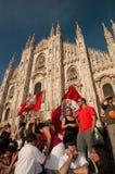 Mediolan nowy Giuliano mayor - Pisapia zdjęcie royalty free