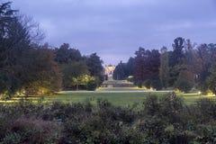 Mediolan: Sempione park przy wieczór Zdjęcia Royalty Free