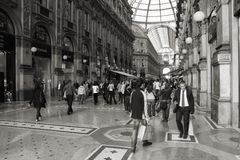 Mediolan, Vittorio - Emanuele II fotografia royalty free