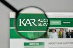 Mediolan Włochy, Listopad, - 1, 2017: Kara aukcja Usługuje loga na th Zdjęcia Stock