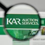 Mediolan Włochy, Listopad, - 1, 2017: Kara aukcja Usługuje loga na th Obrazy Royalty Free