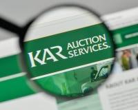 Mediolan Włochy, Listopad, - 1, 2017: Kara aukcja Usługuje loga na th Zdjęcie Royalty Free