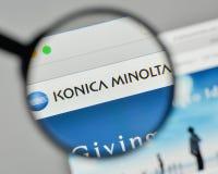 Mediolan Włochy, Listopad, - 1, 2017: Konica Minolta logo na sieciach zdjęcia stock