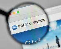 Mediolan Włochy, Listopad, - 1, 2017: Konica Minolta logo na sieciach zdjęcie stock