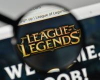 Mediolan Włochy, Listopad, - 1, 2017: Liga legenda logo na w fotografia stock