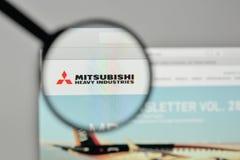 Mediolan Włochy, Listopad, - 1, 2017: Mitsubishi przemysłów ciężkich bela Fotografia Stock
