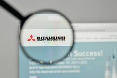 Mediolan Włochy, Listopad, - 1, 2017: Mitsubishi przemysłów ciężkich bela Zdjęcia Stock
