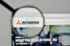 Mediolan Włochy, Listopad, - 1, 2017: Mitsubishi przemysłów ciężkich bela Obrazy Stock