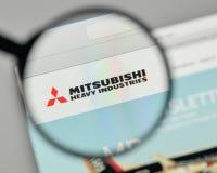 Mediolan Włochy, Listopad, - 1, 2017: Mitsubishi przemysłów ciężkich bela Zdjęcie Stock