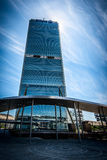 MEDIOLAN WŁOCHY, MAJ, - 04 2016: CityLife Allianz Mediolański wierza projektujący architektami Arata Isozaki Obraz Royalty Free