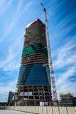 MEDIOLAN WŁOCHY, MAJ, - 04 2016: CityLife Generali Mediolański wierza projektujący Zaha Hadid Fotografia Royalty Free