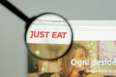 Mediolan Włochy, Maj, - 7, 2017: Właśnie je strony internetowej homepage Właśnie je Obrazy Stock