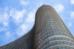 Mediolan, Włochy 04 Marzec 2018: Szczegóły budynki które uzupełniali nową i nowożytną linię horyzontu miasto Mediolan _ Obraz Royalty Free