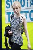 MEDIOLAN WŁOCHY, MARZEC, - 02: Wzorcowy Jessica Stam uczęszcza Krańcowego piękna Modnego przyjęcia przy Palazzina della Ragione po Zdjęcie Stock
