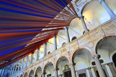 Mediolan, Włochy, 2016 projektów tydzień - Fuorisalone UniversitàStatale Zdjęcie Royalty Free
