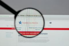Mediolan Włochy, Sierpień, - 10, 2017: American Water strony internetowej homepage Zdjęcie Stock