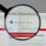 Mediolan Włochy, Sierpień, - 10, 2017: American Water strony internetowej homepage Obraz Stock