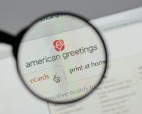 Mediolan Włochy, Sierpień, - 10, 2017: Amerykański powitanie logo na w Fotografia Stock