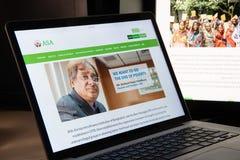 Mediolan Włochy, Sierpień, - 15, 2018: ASA NGO strony internetowej homepage ASA lo fotografia royalty free