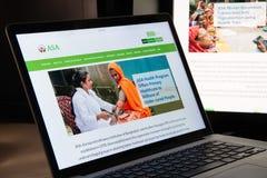 Mediolan Włochy, Sierpień, - 15, 2018: ASA NGO strony internetowej homepage ASA lo zdjęcie royalty free