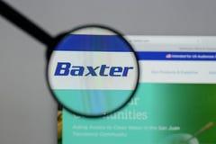 Mediolan Włochy, Sierpień, - 10, 2017: Baxter International logo na obrazy royalty free