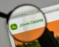 Mediolan Włochy, Sierpień, - 10, 2017: Deere logo na strony internetowej homep obraz royalty free