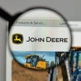 Mediolan Włochy, Sierpień, - 10, 2017: Deere logo na strony internetowej homep fotografia royalty free
