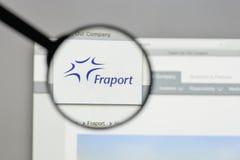 Mediolan Włochy, Sierpień, - 10, 2017: Fraport AG Frankfurt lotnisko Ser Obraz Stock