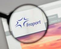 Mediolan Włochy, Sierpień, - 10, 2017: Fraport AG Frankfurt lotnisko Ser Zdjęcie Stock