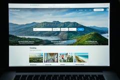 Mediolan Włochy, Sierpień, - 10, 2017: Homeaway strony internetowej homepage Ja jest Obraz Royalty Free