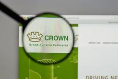 Mediolan Włochy, Sierpień, - 10, 2017: Koron mień logo na websi Fotografia Royalty Free