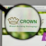 Mediolan Włochy, Sierpień, - 10, 2017: Koron mień logo na websi Obraz Royalty Free
