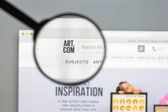 Mediolan Włochy, Sierpień, - 10, 2017: Sztuka com strony internetowej homepage sztuka C Zdjęcia Stock