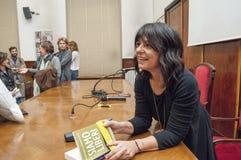 Mediolan włoski powieściopisarz Elena Sacco obraz stock