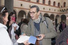 Mediolan włoski powieściopisarz Maurizio Maggiani obraz royalty free
