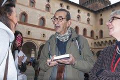 Mediolan włoski powieściopisarz Maurizio Maggiani zdjęcia royalty free