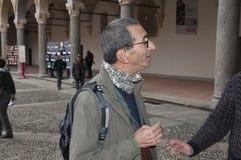 Mediolan włoski powieściopisarz Maurizio Maggiani zdjęcie stock