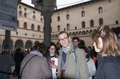 Mediolan włoski powieściopisarz Maurizio Maggiani zdjęcia stock