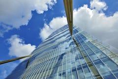 Mediolan, Włochy, Citylife nowy drapacz chmur zdjęcia stock