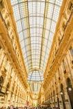MEDIOLAN, WŁOCHY - 13-05-2017: Galleria Vittorio Emanuele II w Milie Zdjęcia Stock