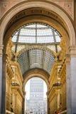 MEDIOLAN, WŁOCHY - 13-05-2017: Galleria Vittorio Emanuele II w Milie Zdjęcie Stock