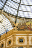 MEDIOLAN, WŁOCHY - 13-05-2017: Galleria Vittorio Emanuele II w Milie Fotografia Stock